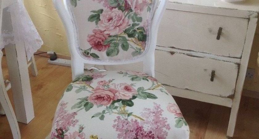 Stunning French Louis Shabby Chic Chair Sanderson Fabric