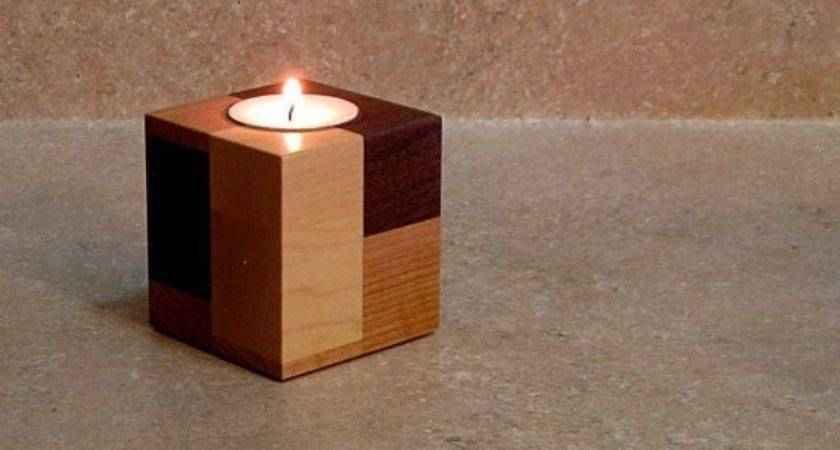 Stunning Wooden Candle Holders Holder