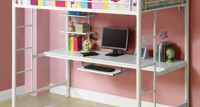 Style Loft Beds Desk Underneath