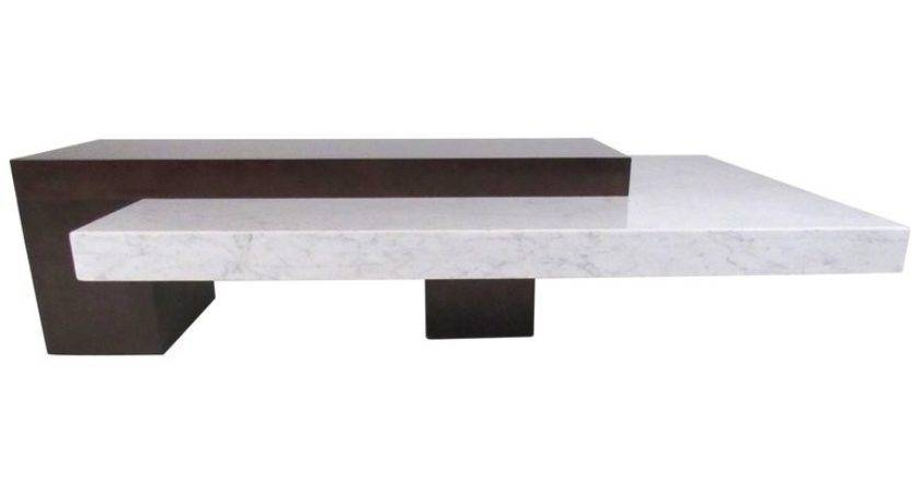 Stylish Italian Modern Marble Top Coffee Table Sale