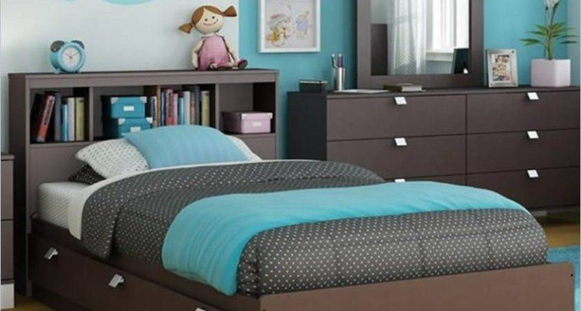 Sweet Stylish Brown Turquoise Bedroom Ideas Kids