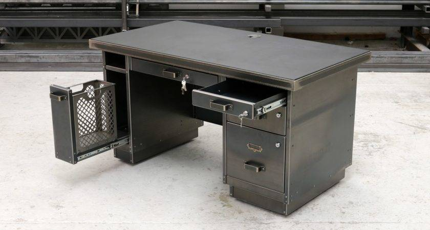 Tanker Desk Industrial Metal Furniture Steel Vintage