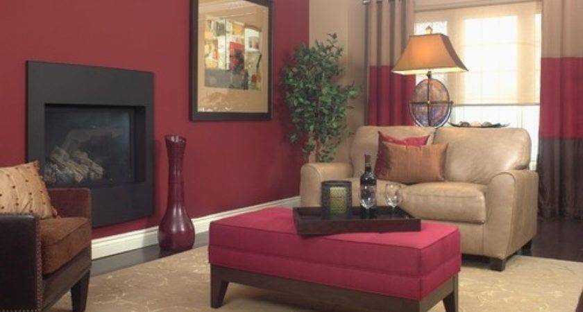 Taupe Red Living Room Coma Frique Studio