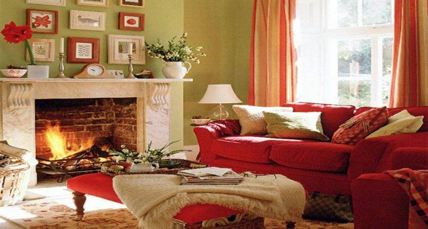 Taupe Red Living Room Peenmedia