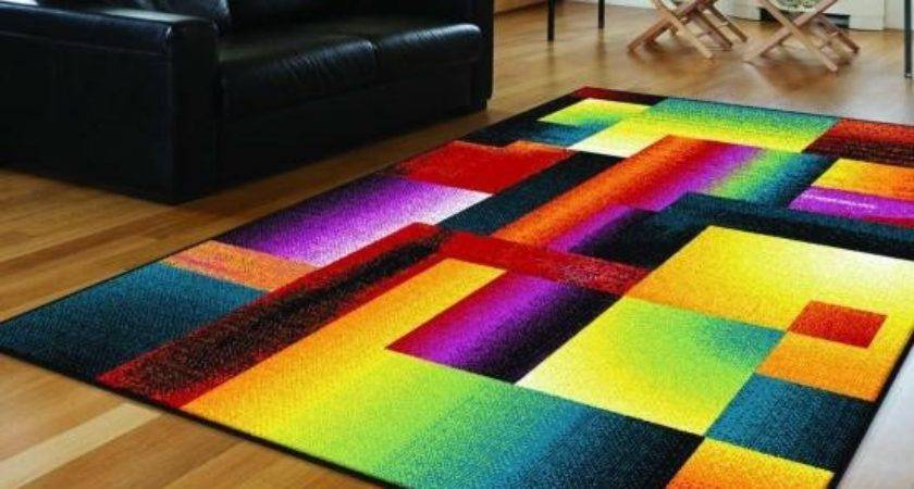 Tayse Rugs Living Room Contemporary Area Rug Colorful