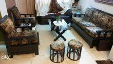 Teak Wood Deco Polish Sofa Set Comprising One Delhi