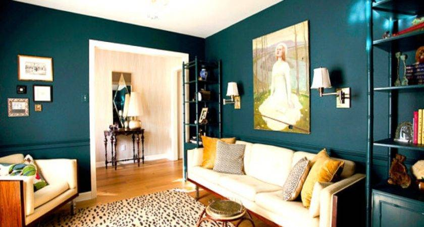 Teal Accent Wall Living Room Color