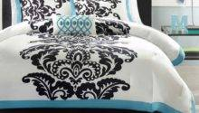 Teal Black Bedding