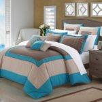 Teal Brown Bedding Decorating