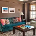 Teal Brown Decor Lounge Neutral Living