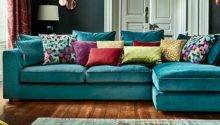 Teal Color Sofa Blue Sectional Kitchen