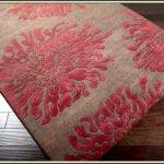 Teal Coral Area Rug Rugs Home Decorating Ideas