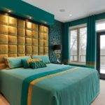 Teal Gold Bedroom