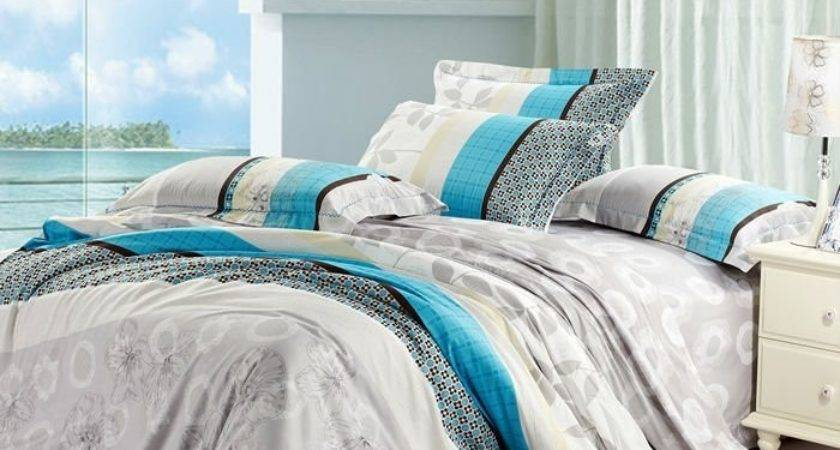 Teal Gray Bedding Grey Sets Bed