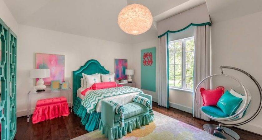 Teal Headboards Contemporary Girl Room Talbot