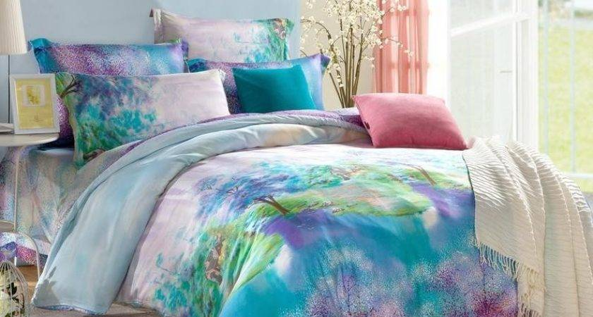 Teal Purple Bedding Turquoise Comforter Western