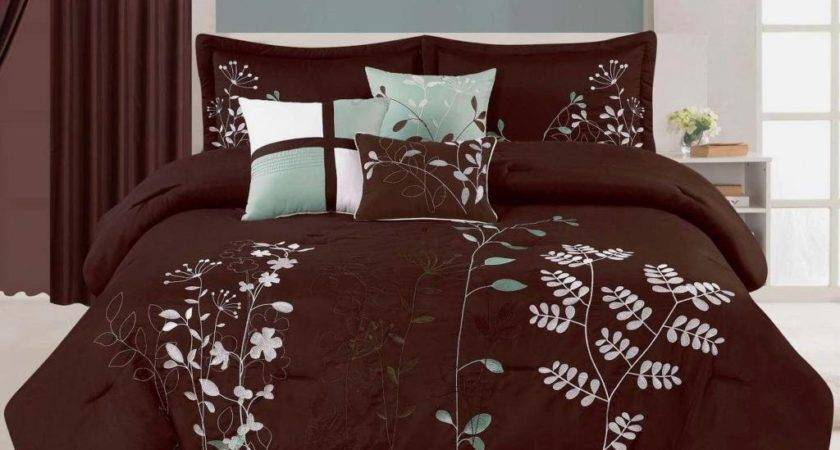 Teal Turquoise Brown Bedding Bedroom Decor Ideas