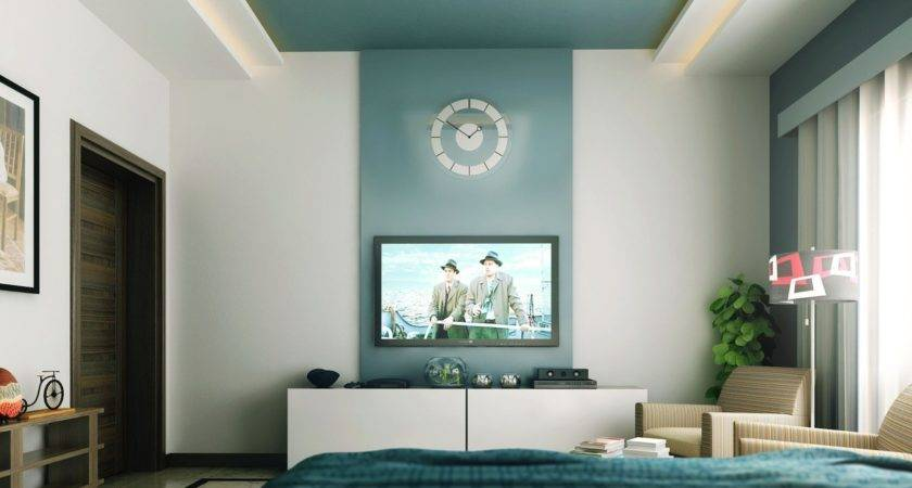 Teal White Entertainment Unit Bedroom Design Olpos