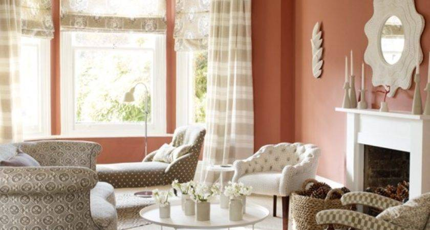 Terracotta Living Room Patterned Fabric