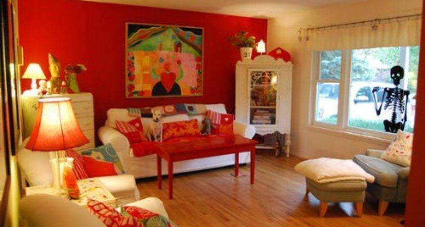 Tips Painting Your Living Room Wall Red Creative