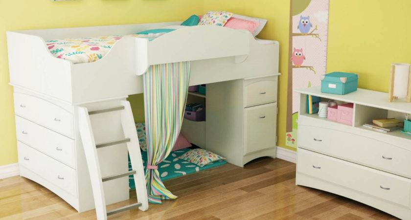 Toddler Loft Bed Stairs Donco Kids Loftstyle Light