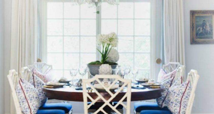 Top Blue White Dining Room Within Small Home