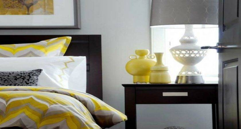 Top Grey Yellow White Bedroom Cheerful