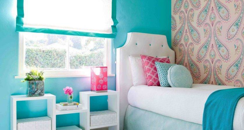 Top Pink Blue Bedroom Additional Home Design