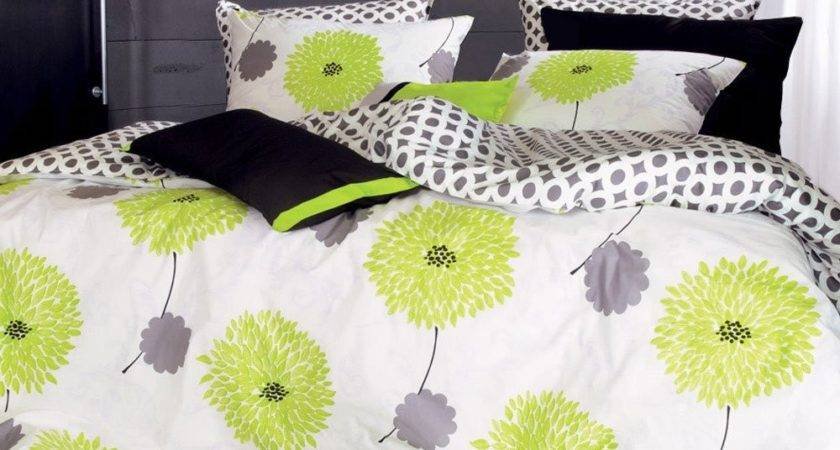 Total Fab Lime Green Grey Bedding Sets