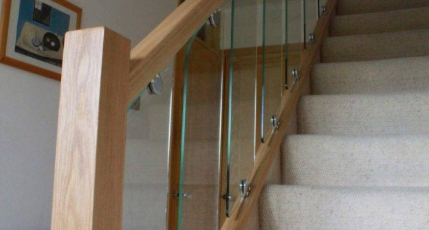 Toughened Glass Staircases Chrome Metal Iron Oak