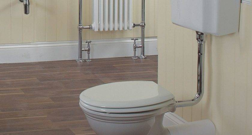Traditional English Low Level Toilet Old Fashioned