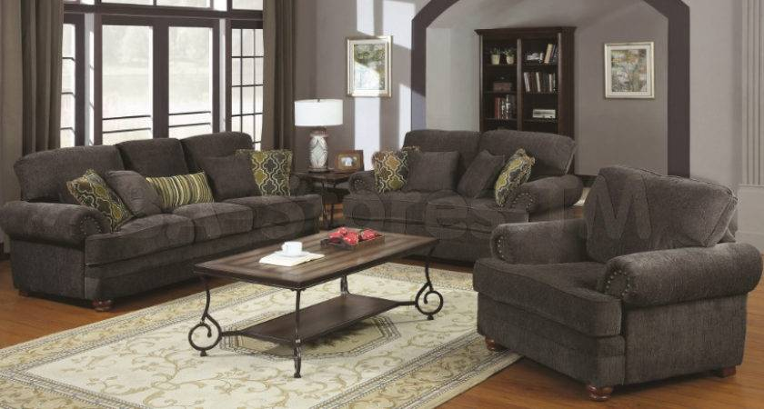 Traditional Living Room Furniture Grey Sofa
