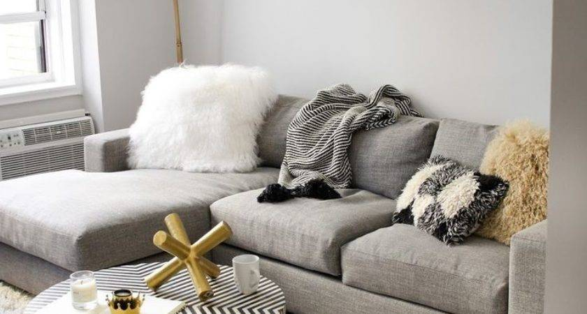 Trend Gray Gold Living Room Home Decoration