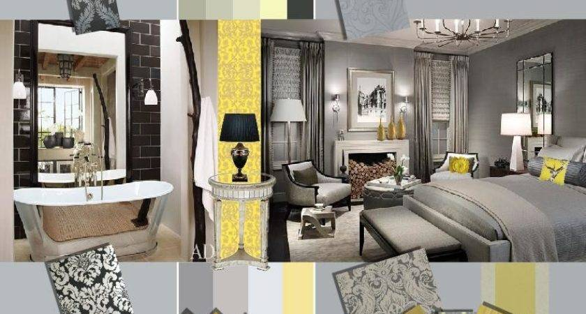 Trendy Grey Yellow Interior Design Wedding Color