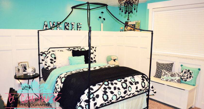 Turquoise Black White Bedroom Ideas Home Decorating