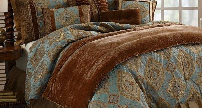 Turquoise Brown Bedding Teal Sets Newest Comforter