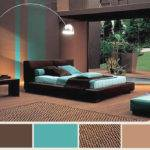 Turquoise Brown Bedroom Colors