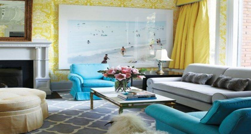 Turquoise Grey Living Room Ideas Modern House