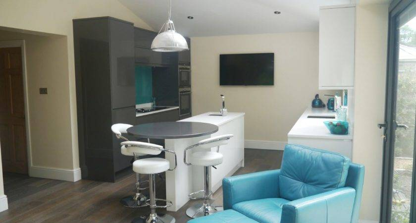 Turquoise Leather Chair Kitchen Contemporary Grey