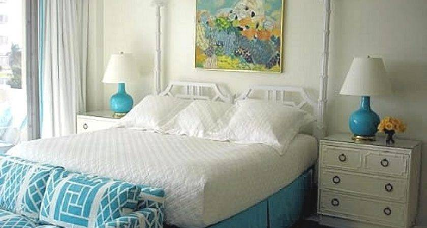 Turquoise White Bedroom Interiors Color