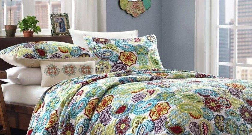 Twin Queen Colorful Paisley Floral