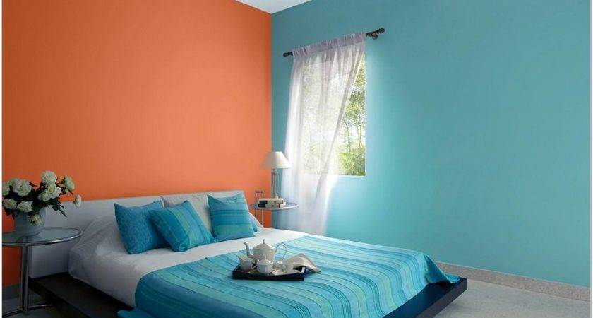 Two Colour Combination Bedroom Walls Smith Design