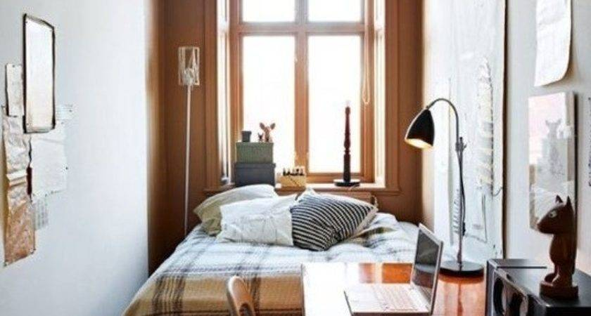 Uncluttered Small Bedroom Decorating Ideas Brown