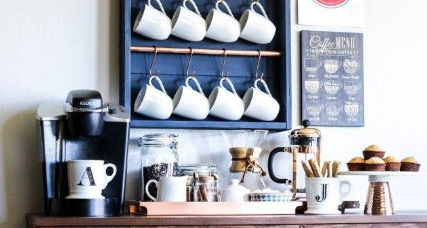 Upgrade Your Kitchen Stylish Diy Coffee Bar Hgtv