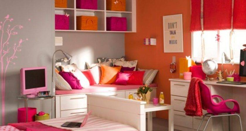 Vibrant Girl Bedroom Teenage Girls Ideas