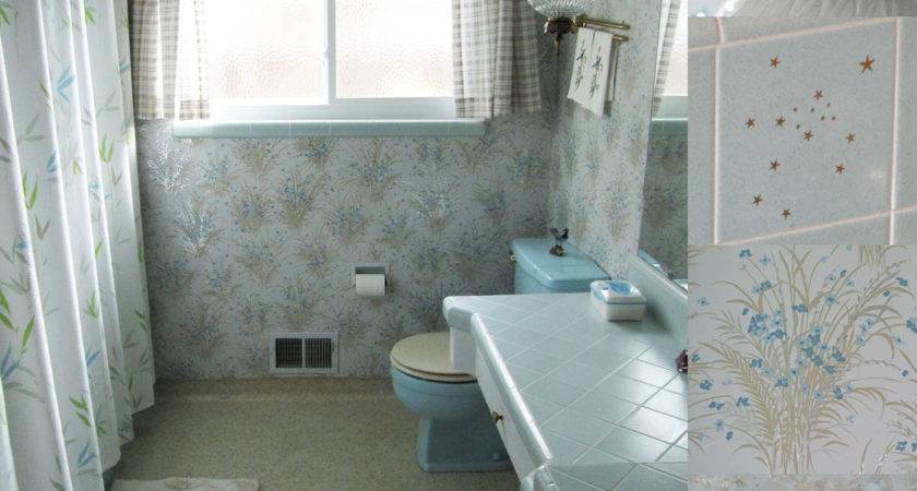 Vintage Blue Bathroom Tiles Ideas