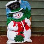 Vintage Giant Outdoor Noma Plastic Snowman Seasons