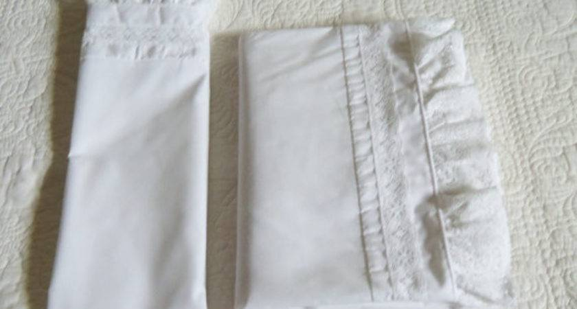 Vintage Laura Ashley Bedding White Cotton Twin