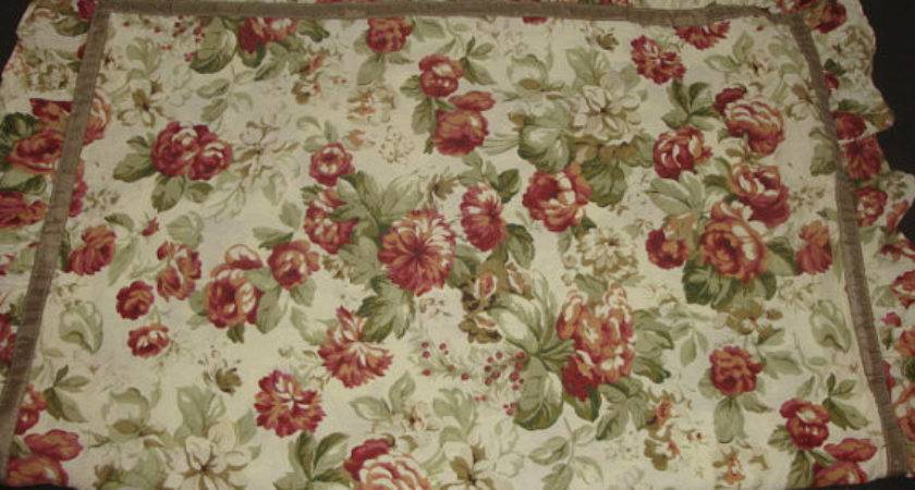 Vintage Laura Ashley Burgundy Red Sage Green Florals Pink