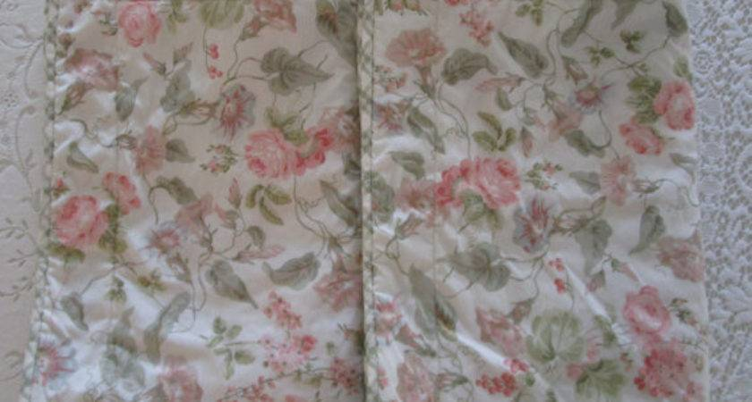 Vintage Laura Ashley Shams Two King